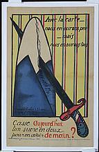Original French World War I SAVE SUGAR Poster