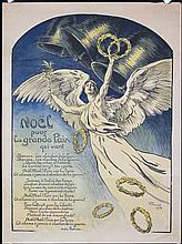 Original 1918 French World War I Christmas Poster