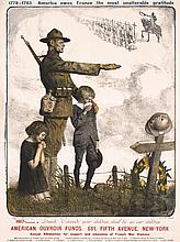 2 French American World War I Posters Ouvroir Fund