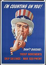 2 Original American World War II Poster UNCLE SAM