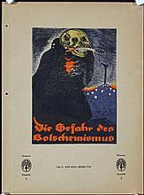 13 Original 1919 WW I Germasn Propaganda Poster Plates