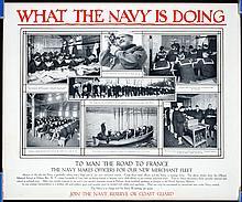 7 Original American World War I NAVY Posters