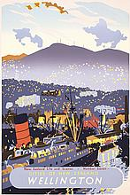 Original 1950s New Zealand Wellington Travel Poster