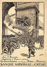 Original French World War I Poster 1917 SEM Triomphe