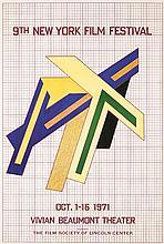 Original 1971 FRANK STELLA NY Film Modern Design Poster