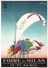 RRE OLD 1920s Italian Milan Faire Travel Poster MAZZA
