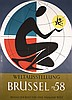 HUGE 1950s Brussels World´s Fair Travel Poster RICHEZ, Jacques Richez, Click for value