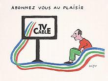 2 Original RAYMOND SAVIGNAC French CABLE TV Posters