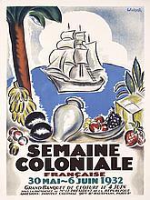 RARE Original 1930s French Art Deco Fair Travel Poster
