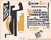 RARE Original 1920s LARIANOV Grand Bal Handbill Poster, Michel Larionov, $700