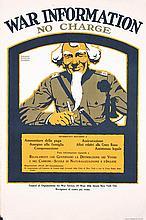 Original US World War I Poster Uncle Sam War Info
