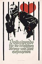 RARE German WW I Propaganda Poster HOHLWEIN Large Size