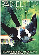 Original 1930s German Travel Poster JUPP WIERTZ Design