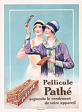 RARE Original 1920s Art Deco Pathe Film Photo Poster