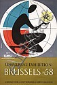 Old 1950s Brussels World´s Fair Sabena Travel Poster, Jacques Richez, Click for value