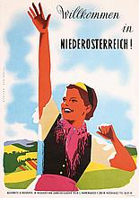 Original 1950s Austrian Travel Poster Good Graphics