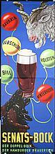 HUGE Original 1950s German Buck Beer Poster Plakat