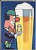 Funny Original 1950s German Beer Poster