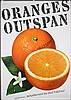 Original 1960 Swiss Oranges Food Poster Plakat
