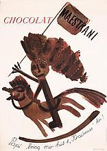 Original 1940Ss Swiss Chocolate Advertising Poster