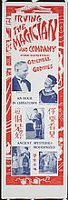 Original 1930s/40s Irving The Magician Poster
