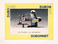 Rare Original 1930s Cassandre Dubonnet Poster Plakat