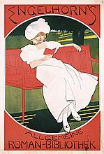 Original 1890s German Art Nouveau Book Advert Poster