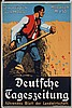 Old 1900s German Newspaper Advertising Poster Plakat