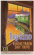 Original Vintage 1940s/50s IRELAND Travel Poster RAILWAY