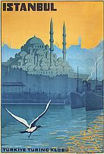 Original Vintage 1920s ISTANBUL Travel Poster TURKEY