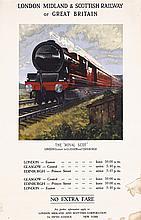 Original 1930s British Rail Travel Poster ROYAL SCOT