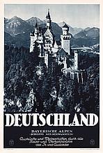 Lot of 8 German Vintage 1930s Travel Posters