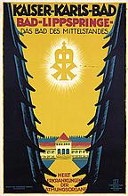 Original Vintage 1920s German Spa Travel Poster
