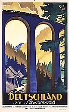 Original 1920s/30s German Black Forest Travel Poster