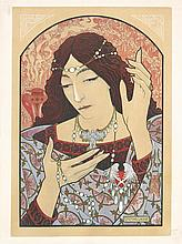Original 1890s Art Nouveau ESTAMPE MODERNE Plate LENOIR