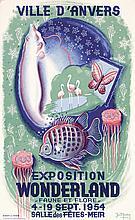 Beautiful Original 1950s Dutch Poster ANIMAL WONDERLAND