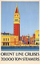 Beautiful Original 1930s VENICE Travel poster ORIENT LINE