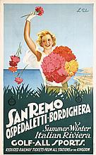 Original 1930s San Remo Italy Travel Poster