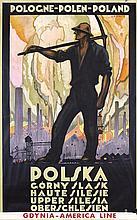 RARE Original 1930s Polish Travel Poster SILESIA NORBEL