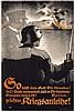Original German WW I Propaganda Poster BERNHARD U-Boot, Lucian Bernhard, $460