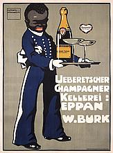RARE Original 1900s LUDWIG HOHLWEIN Champagne Poster