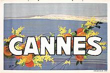 Original 1930 SEM Cannes French Travel Poster