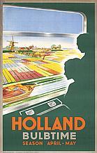 Beautiful Original 1950s Holland Bulbtime Travel Poster