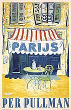 Original Vintage 1940s PARIS Travel Poster Pullman Rail