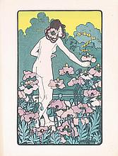 Original 1890s Hans Christiansen Art Nouveau Print Girl