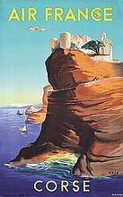 Original 1950s Air France Travel Poster CORSICA