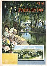 RARE Original 1890s French Travel Poster ALESI ART