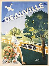 Original Vintage 1920s DEAUVILLE French Travel Poster