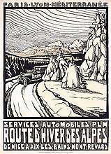 Original Vintage 1920s French PLM Alps Travel Poster