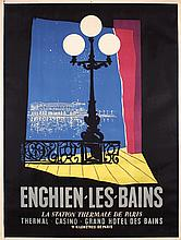 Original 1950s French Travel Poster ENGHIEN LES BAINS